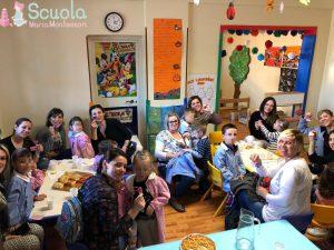 Merenda insieme per la festa della Mamma - eventi scuola Maria Montessori